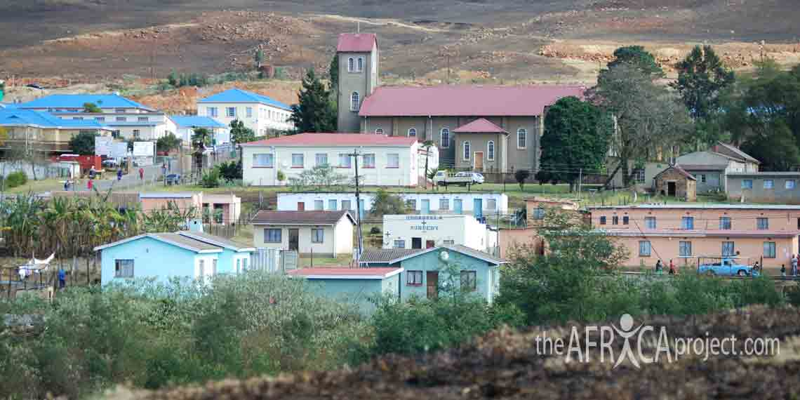 Nkandla town church and hospital