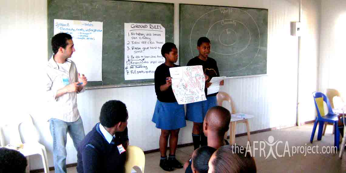 Velangaye students in the Youth Leadership Training hosted by The Africa Project