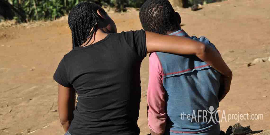 Nkosazana comforts a child