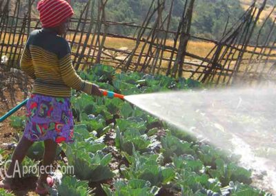 Nobuhle gets a garden hose